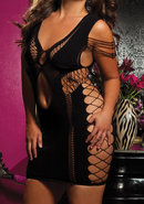 Flirtatious - Stretchy Dress - Black Q/s