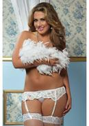 Lace Affairs Garter Belt White 1/2x