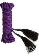 Black Rose Bondage Bliss Cotton Bondage Rope 32 Feet Purple